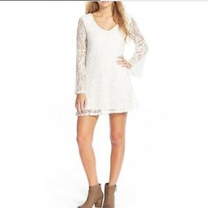 Socialite Ivory Bell Sleeve Lace Dress Size XS